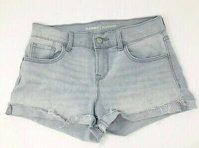 Old Navy The Boyfriend new Women/'s Distressed Light Blue Denim Jean Shorts sz 2