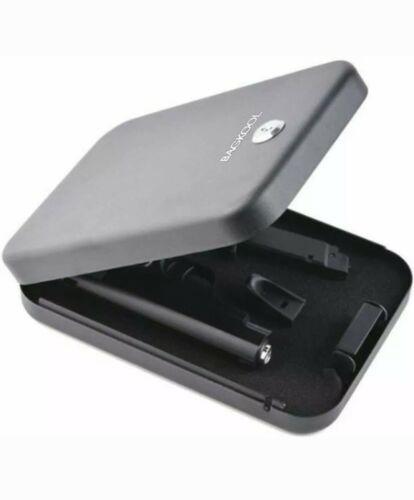 Portable Metal Foam Cushion Inside Gun Safe Handgun Key Lock Security Box Case