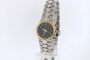 Ladies-Wittnauer-12L25-Biltmore-Two-Tone-Stainless-Steel-Black-Dial-Watch