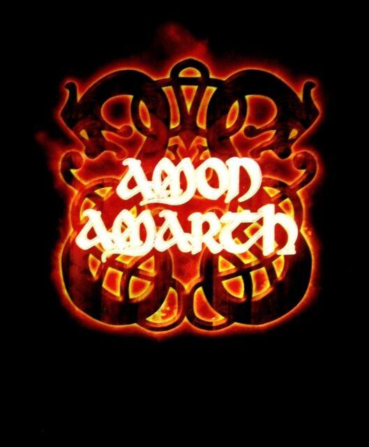 AMON AMARTH cd lgo FIRE HORSES Official Black SHIRT XL new