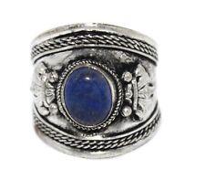 Adjustable Lapis Ring Boho ring Silver ring Tibetan ring Tibet Ring RB199