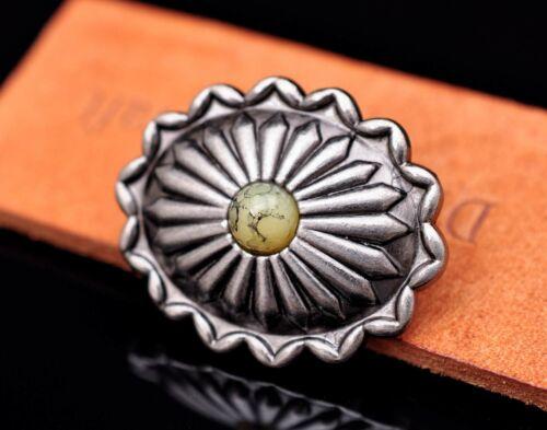 10X Retro Silver Turquoise Flower Engraved Leathercraft Saddle Hardware Concho