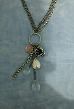 H&M Silver Plated Pendant Charms Necklace VGC