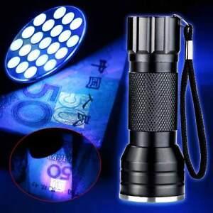 New-UV-Ultra-Violet-21-LED-395nm-Flashlight-Mini-Blacklight-Aluminum-Torch-Lamp