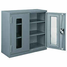 Assembled Clear View Wall Storage Cabinet 30x12x30 Gray