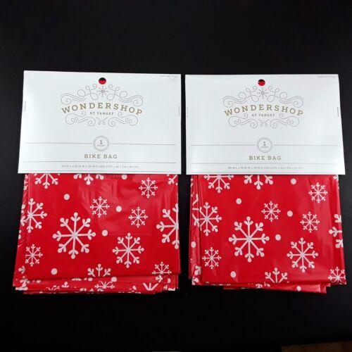 Large Bike Bag Gift Bag Holiday Christmas Party Big Present Wrapping Lot Of 2