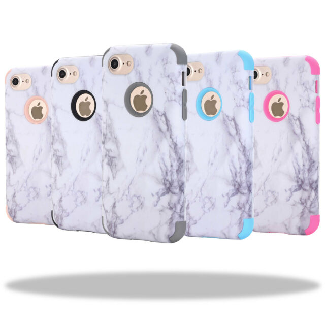 Granite Marble Hard Pc Armor Shockproof Case Cover For Apple Iphone 6 6s 7 Plus