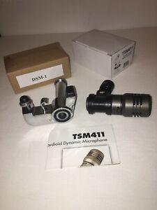 Microphone-For-Snare-Drums-Tom-Cajon-Bongo-CAD-TSM411-DSM-1-Studio-Live-Mic-Clip