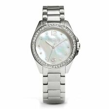 NWT Coach Womens Tristen Mother Of Pearl Dial Stainless Pave Watch 14501656 $275