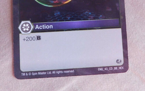 BAKUGAN Battle Brawlers Planet PRISMATIC SHIELD FOIL Action Card 43/_CO/_BB/_HEX