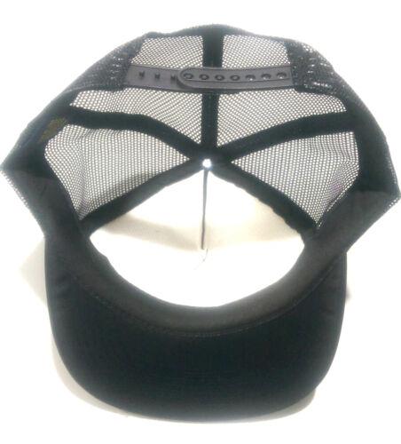 New High Quality Plain Black FLAT PEAK Trucker Mesh Snapback Cap hat