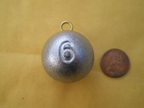 CANNON BALL SINKERS 10 GOOD QUALITY FROM DO-IT MOLD 8 6 OZ 2 EACH 6 PCS