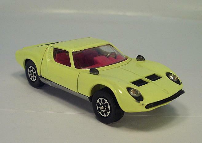 Corgi Toys Whizzwheels 342 Lamborghini Lamborghini Lamborghini Miura P400 yellow 0221c8