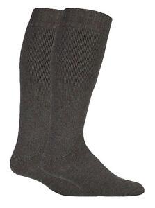 Mens Knee High Wool Wellington Boot Socks