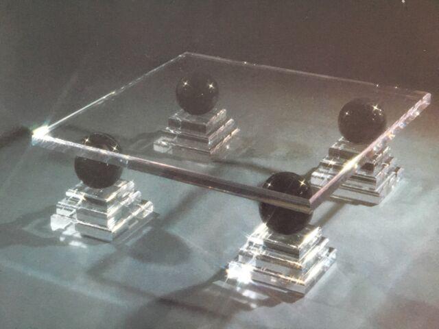Luxusdesign Wohnzimmertisch Marmor Acryl Plexi Massiv Tisch Couchtisch Plexiglas