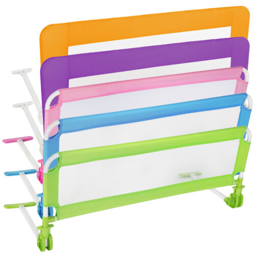 Bed guard toddler safety childs bedguard baby folding mesh rail 102 cm