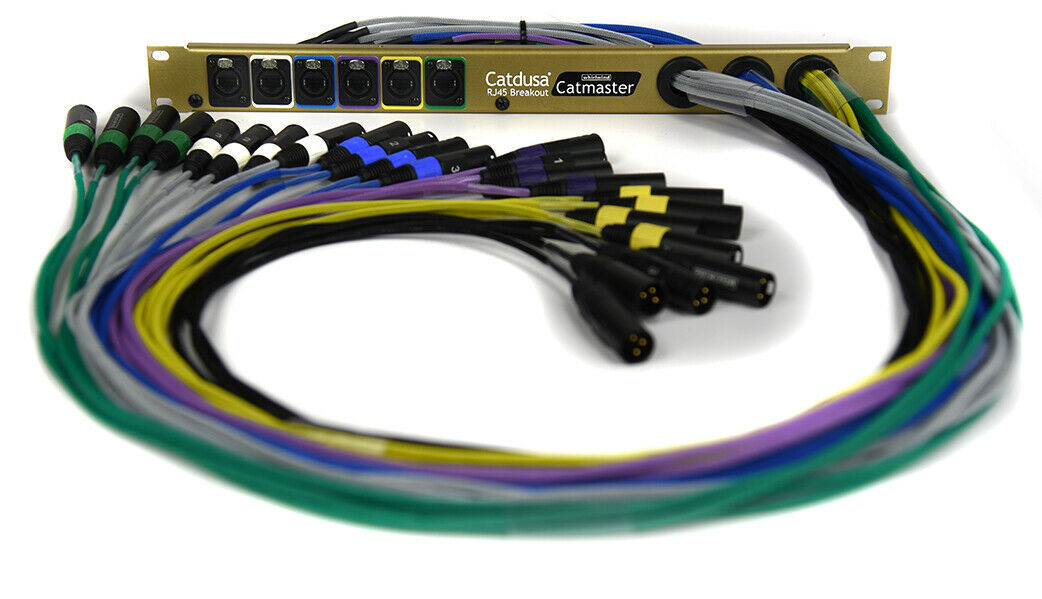 Image 1 - Whirlwind Catmaster Catdusa 6 RJ45 to 24XLR Male 3ft snake Rack unit