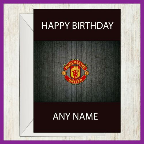 Manchester United FC anniversaire vidéo interactive Carte D/'Anniversaire Football Soccer