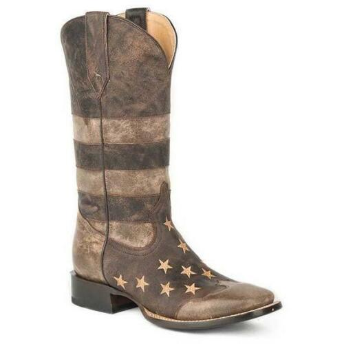 Men's Roper Working Mans Flag Boots Handcrafted