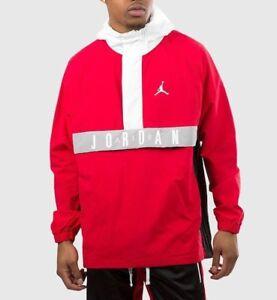 Nike Men s Air Jordan WINGS ANORAK WIND JACKET University Red White ... 7e08dfdb0