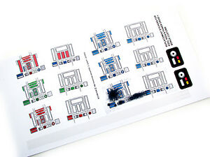 R2D2 R5D4 Power Droid Replacement stickers