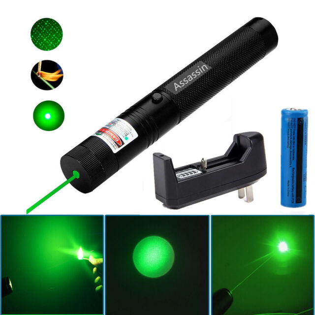 Green Laser Pointer 10Miles 532nm 303 Lazer Pen Visible Beam Light+18650+Charger