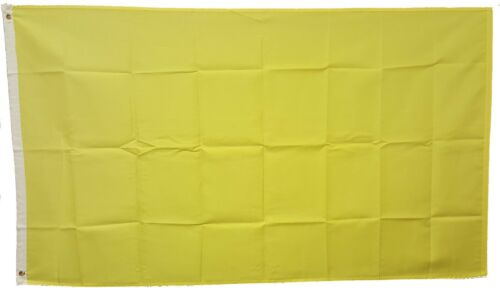 SOLID YELLOW 3/'x5/' FLAG WITH GROMMETS 3 FOOT X 5 FOOT POLYESTER INDOOR//OUTDOOR