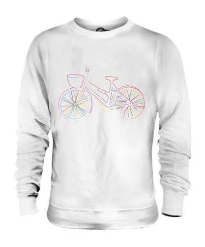 Linear Bike Skizze Unisex Pullover Top Geschenk Skizze Bunt