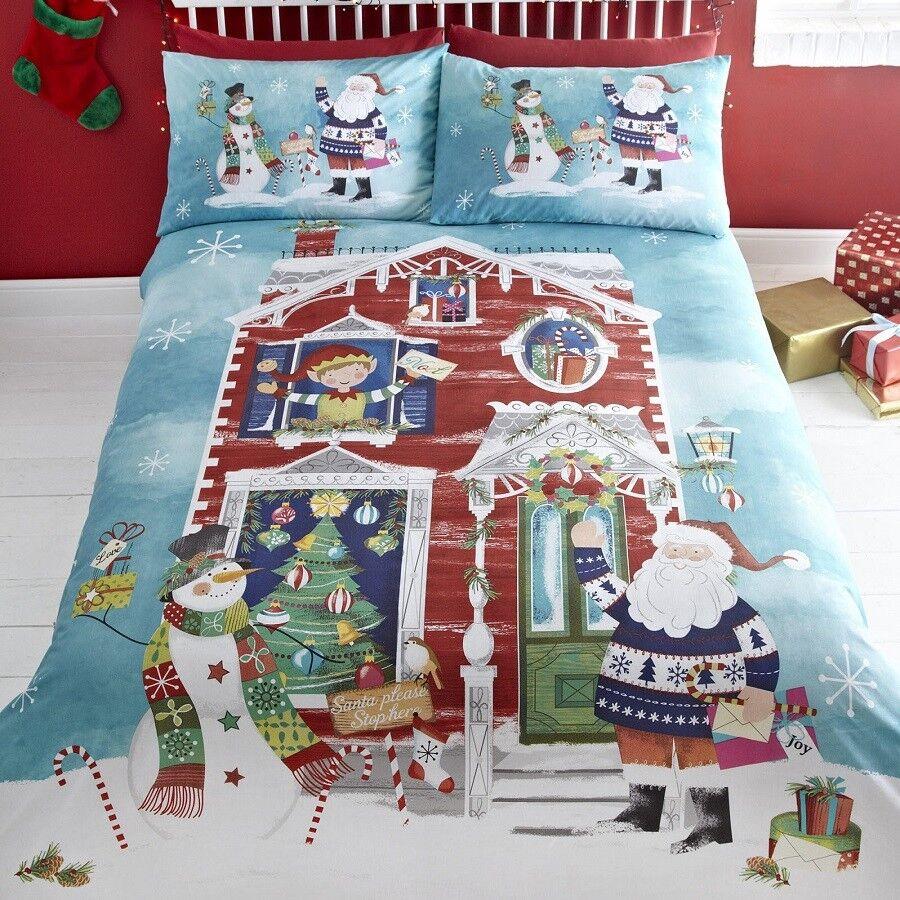 aspettando Babbo Copripiumino Natale  Christmas Trapunta Copripiumino Babbo Set, Set di biancheria da letto, biancheria da letto. 7cb29e