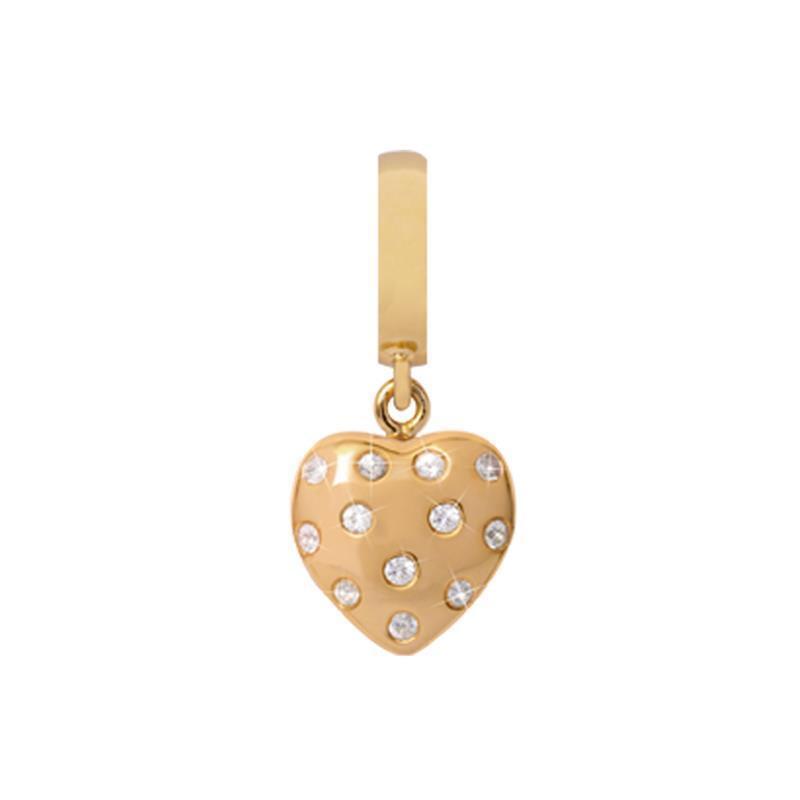 Charm CHRISTINA SPARKLING in silver 925 Placcato gold con Cuore - 610-G05