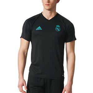 a7fb433e5 Adidas Men s Real Madrid 2017 18 Football Training Shirt Top New ...