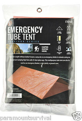 Tube Tent • Emergency Survival Camping Shelter Tarp Waterproof Prepper Gear NEW