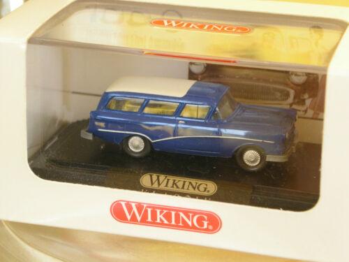 Wiking Klassik colección récord Caravan azul en OVP Top