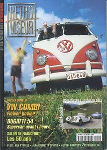 RETROVISEUR-n-158-10-2001-VW-COMBI-BUGATTI-54-MORGAN-8-SUMBEAM-TIGER