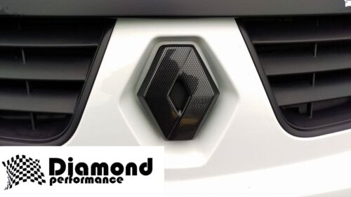 Renault Trafic 2006-2014 Lifting De Fibra De Carbono efecto Parrilla Frontal Insignia cubierta