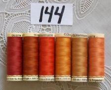 6 orange colors GUTERMANN 100% polyester thread 110 yards each Spool (#144)