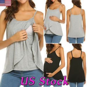 ca54ef8f950 Image is loading Maternity-Women-Clothes-Pregnant-Nursing-Tops-Blouse -Breastfeeding-