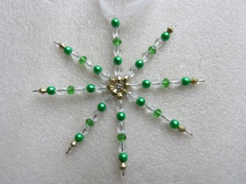 Bead Work For CHRISTMAS DECORATION Snowflakes Beading 1-10 Big Wire Star