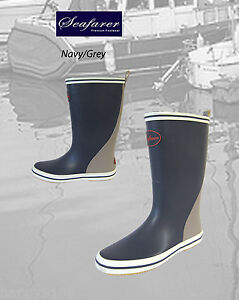 Seafarer-Grey-Welly-Boots-Boating-Sailing-Wellington-Boots-Outdoor-Boots