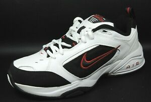 Nike-Air-Monarch-III-Mens-Shoes-White-Black-Leather-Running-312628-101-Vintage
