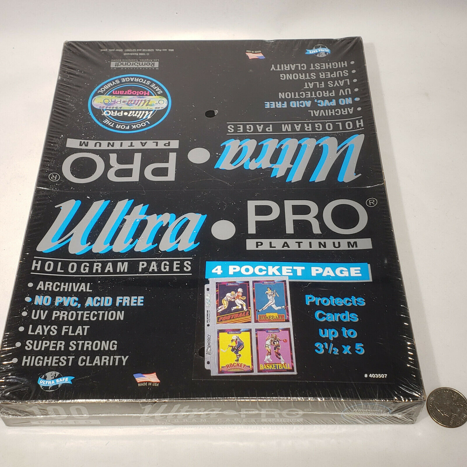 1Pages Platinum Series 4-Pocket Pages Ultra Pro