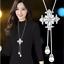 Damen-Halskette-mit-Anhaenger-Silber-lange-Kette-Mode-Schmuck-Geschenk-elegant Indexbild 1