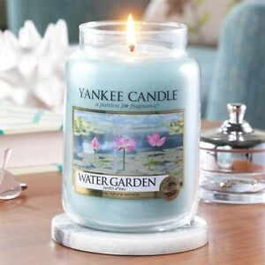 WATER-GARDEN-LARGE-YANKEE-CANDLE-JAR-FREE-SHIPPING-GREAT-FRESH-SCENT