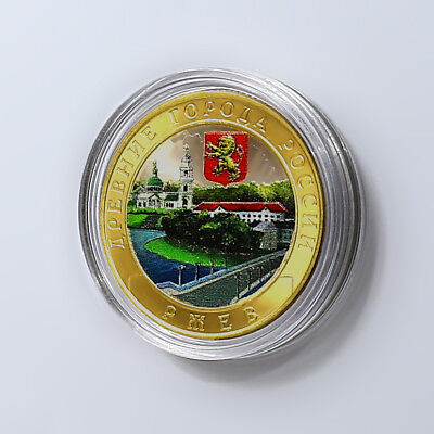"Russia 10 roubles 2016 /""Rzhev Tver Region/"" BiMetallic UNC"