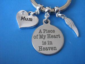 Mum Bereavement Keyring In Memory of Mum Loss of a Mum Sympathy Gift