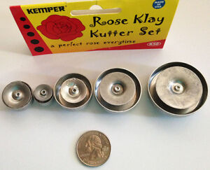 Kemper Klay Kutters, Rose plunge style clay cutter for polymer clay or fondant