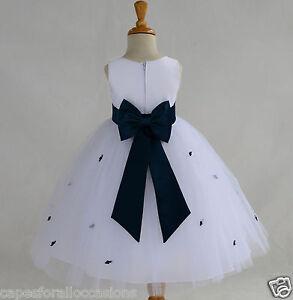 WHITE-ROSEBUD-WEDDING-CHILD-FLOWER-GIRL-DRESS-PAGEANT-TULLE-12-18M-2-4-6-8-10-12