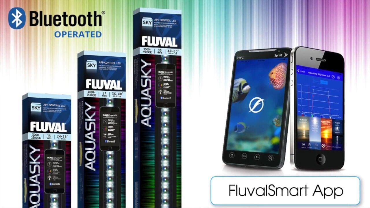 FLUVAL AQUASKY 2.0 LED WITH BlauTOOTH AQUARIUM FISH TANK LIGHTING 12W - 33W