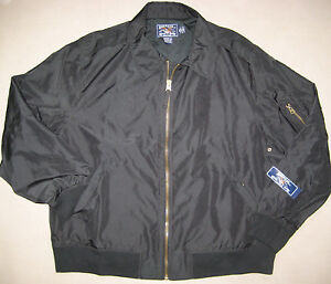 American-Living-Ralph-Lauren-Jacket-Flight-Bomber-M-or-XL-NWT-100-Black