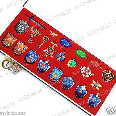 The Legend of Zelda Necklace keychain Pendant Weapons 22pcs Set Collection Box